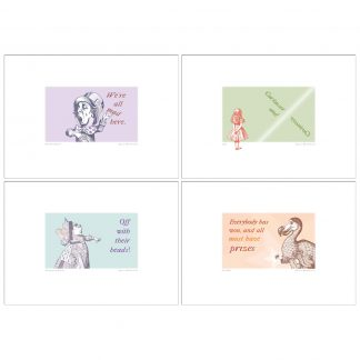 'Alice in Wonderland' 4 A4 print pack