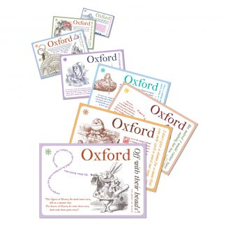 'Oxford & Alice' series: 8 postcard pack