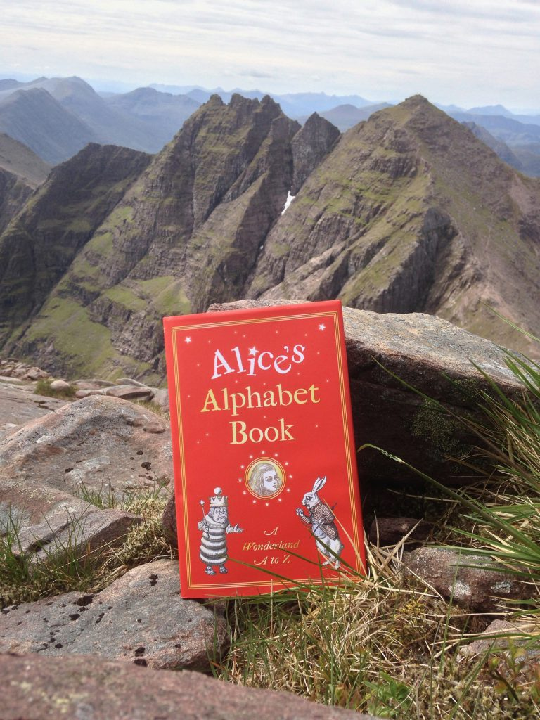 Alice's Alphabet Book cover in the mountains